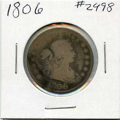 1806 25C Draped Bust Silver Quarter. Circulated. Lot #2186
