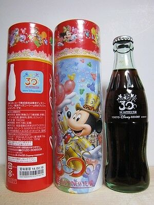 (1) 2013 Tokyo Disney Resort 30th Anniversary Coca Cola limited Bottle