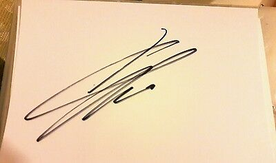 White A6 Card Hand Signed By Liverpool FC Manager Jurgen Klopp