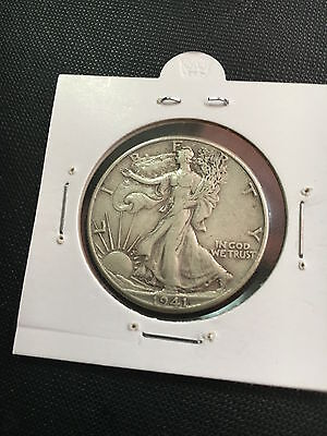 1941 USA Silver Half Dollar 50 cents WALKING LIBERTY - HIGH GRADE