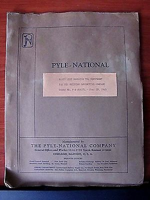 Pyle National- Parts List Covering Equipment for Whitcomb Locomotive 1940 Illust