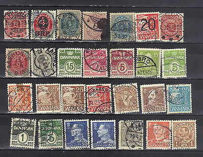 Denmark- Lot Of Early Used Stamps (12D)