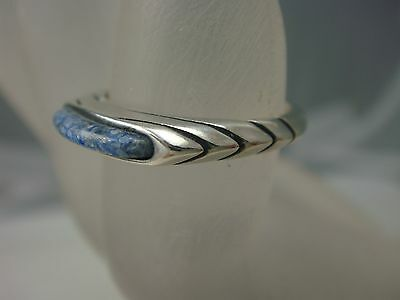Carolyn Pollack Relious Sterling Silver Stack Ring Blue Lapis Size 5