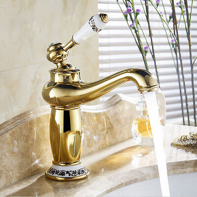 Bathroom Antique Bronze Finish Brass Basin Sink Faucet Single Handle Water Tap