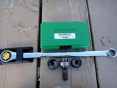 Greenlee Slug Buster 7235BB Knockout Punch Set, Ratcheting Wrench + 2 Extras