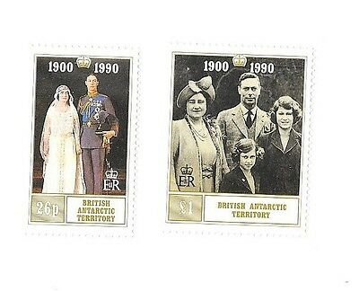 British Antarctic Territory  90th Birthday  the Queen mother stamps,    MNH