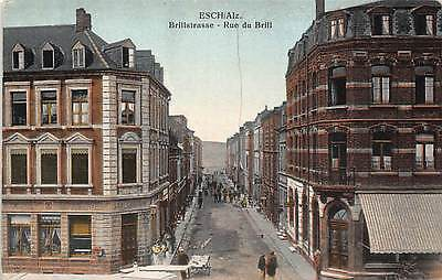 Esch sur Alzette. Rue di Brill. Luxembourg, Early Postcard by P Houstrass