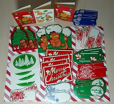 ~ vintage GARFIELD gift TAGS & Christmas fancy tags ~