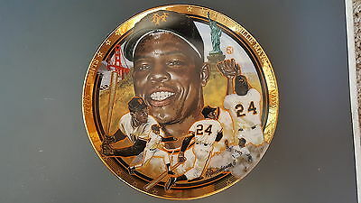 Willie Mays New York Giants 1992 Sports Impressions Collectors Plate