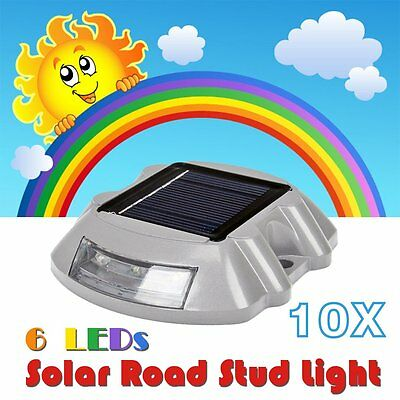 Garden Road Driveway Pathway 10X Solar Powered Aluminum 6 LED Security Lights AU