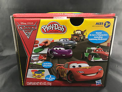 Disney Pixar Cars 2 Play-Doh Mini Set Lightning McQueen Play Dough Hasbro Gift