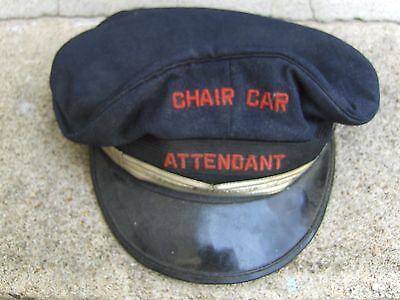 Rock Island Lines Train Hat Chair Car Attendant Railroad Employee Vtg Hat