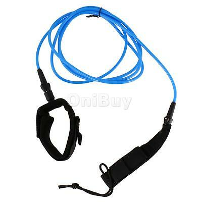4ft Straight Surfboard Surfing TPU Leash Ankle Cuff and Double Swivel Blue