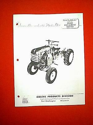 Bolens 220-01 Deluxe Ride-A-Matic Tractos Owner's With Parts Manual