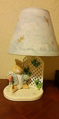 The World of Beatrix Potter ~ Peter Rabbit Nursery Lamp Rare So cute