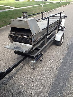 Hamburger Cooker/Roaster Trailer Catering Party