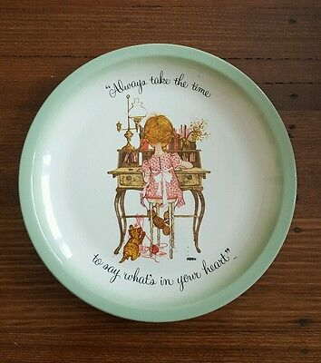Holly Hobbie Collectors Plate 'Always take the time to say whats in your heart'