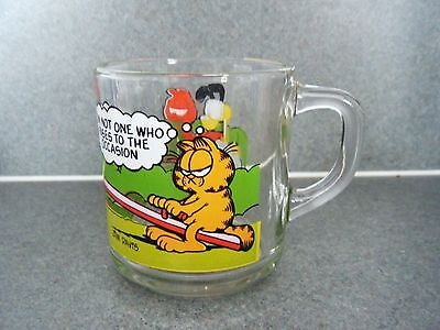 Glass Garfield Cat Odie Cup Comic Mug Collectible Christmas Gift Vintage But New