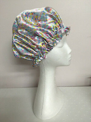 Candy Bathroom Shower Cap Comfy Satin Salon Caps Waterproof Bathing Hair Hat
