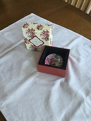 Laura Ashley Glass Paperweight