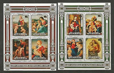 Zaire 1983 Christmas. Navidad. Paintings by Raphael** SG#MS1171. MNH