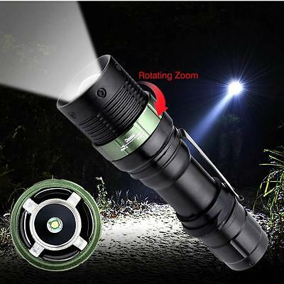 6000 LM Zoomable CREE XM-L T6 LED Flashlight 3 Modes 18650 Torch Focus Light SS