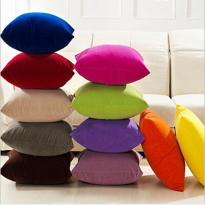 50x50cm Faux Suede Pure Color Candy Color Pillowcase Cushion Cover For Pillows