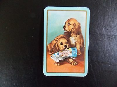 Swap playing card 1 Vintage Linen Dogs