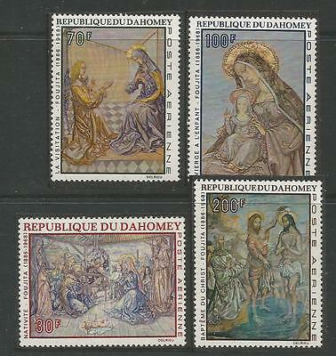 DAHOMEY 1968  Christmas Weihnachten Navidad** Paintings by Foujita.  MNH set.