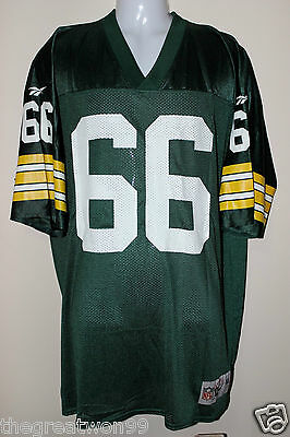 NFL Green Bay Packers #66 XL 7187A Throwback Printed Gridiron Jersey by Reebok