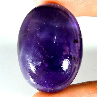 UNTREATED 40.45cts PURE NATURAL PURPLE AMETHYST OVAL CABOCHON AFRICAN GEMSTONE