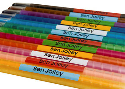 Kids Pencil Pen Stationary Name school labels personalised Stickers Small x 50