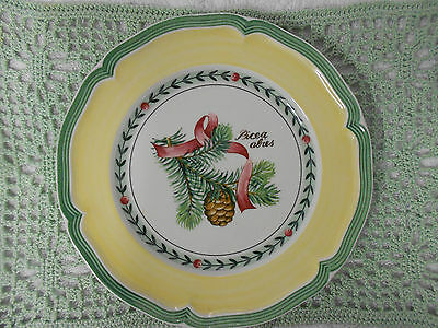 Villeroy & Boch French Garden Christmas Picea Abies Vintage Salad Plate (b)