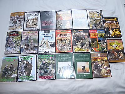 Various hunting and shooting DVDS.SHOOTING HUNTING STALKING