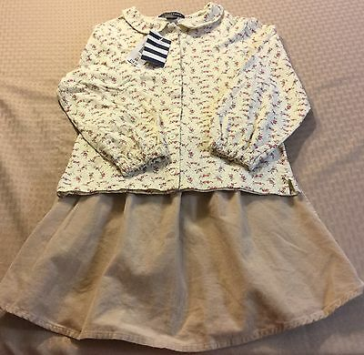 Girl's LAND'S END Floral Print Knit Top & Corduroy Skirt size 6 NEW