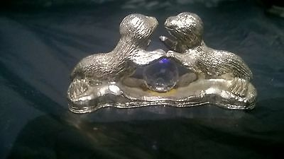 W.A.P.W pewter seal with crystal stone