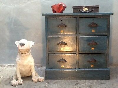 Superb Early 1900's 6 Draw Haberdashery Chest/Cabinet