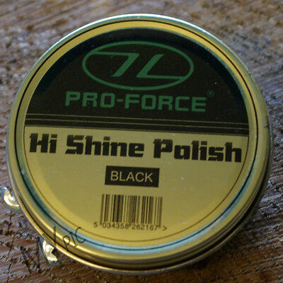 PRO-FORCE HIGH SHINE POLISH – black military boot / shoe parade gloss army tin