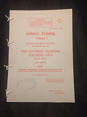 Gpmg L7 Gimpy M240 Mag58 Light Role Pamphlet Manual Falklands Northern Ireland