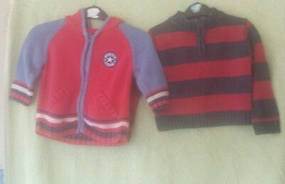 Baby's boy's jumper and cardigan age 6/9 months