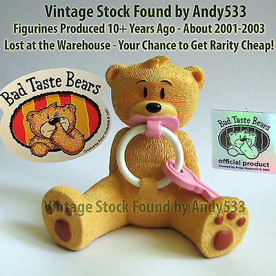 Bad Taste Bears MIB 73 Rington Pink Vintage Out of Production Retired