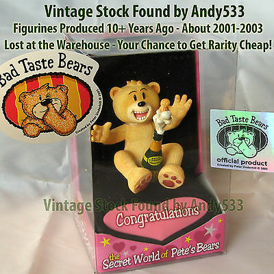 Bad Taste Bears MIB Congratulations Vintage Out of Production Retired