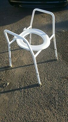 Toilet Chair Commode Disability Aid Adjustable Height Perfect Condition