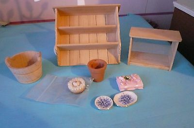 New A Mixed Lot Of 1/12 Scale Dolls House Miniatures
