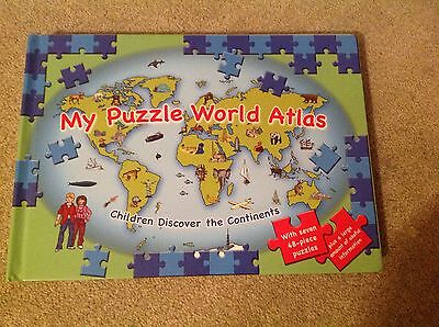 My Puzzle World Atlas With Seven 48 Piece Puzzles