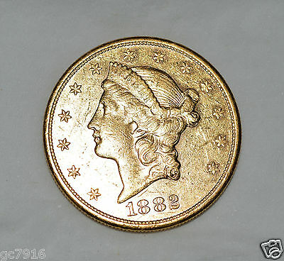 Gold Coin American Double Eagle Liberty Head Solid Gold $20 1910 (Au58)
