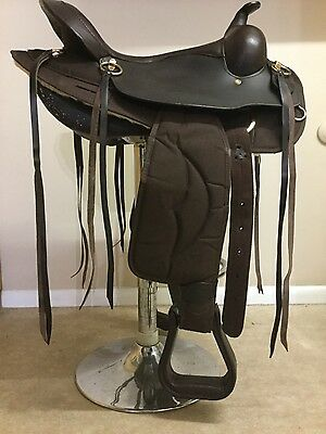 16.5 King Comfort Brown Synthetic Gaited Western Saddle