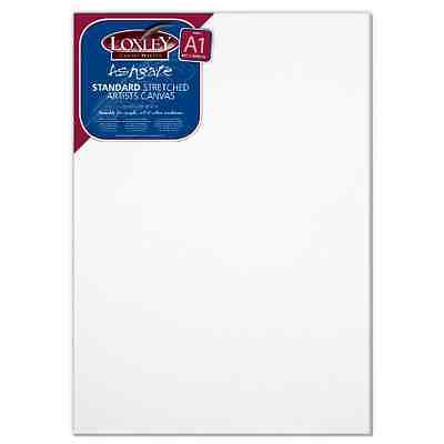 Loxley A1 size Traditional 18 mm Depth Ashgate Stretched Artists Canvas White
