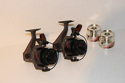 2x Rare Silstar BT40 reels with spare spools