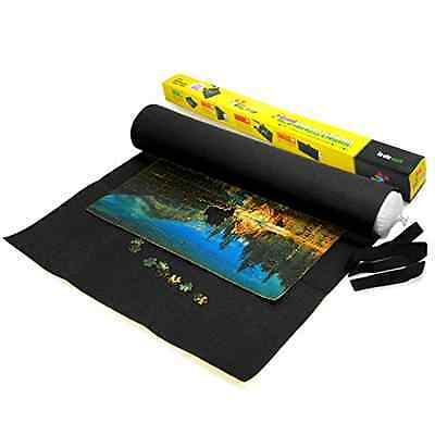 Lavievert Giant Black Big Felt Mat for Puzzle Storage Puzzles Saver, 3000-piece